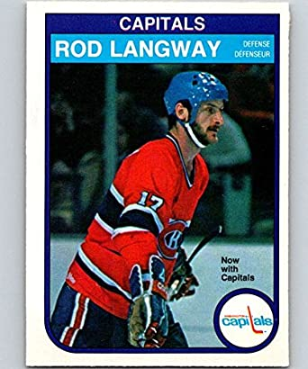 1982-83 O-Pee-Chee Hockey  368 Rod Langway Washington Capitals Official a96a65c28