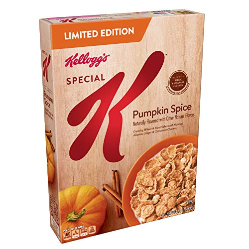 Kellogg's Special K, Breakfast Cereal, Pumpkin Spice, Limited Edition, 12.4oz -