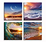 Sea Beach Ocean Modern Decor Nature Scape Picture Canvas Print Paintings For Wall Decor Framed Artwork Wall Decorations For Livingroom Bedroom Bathroom And Office For Sale