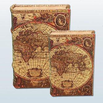 Amazon Com Map Of The World Secret Book Box Set With Globe Design