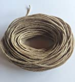 50ft of 100% Organic Hemp Wick, Waxed by Hand in