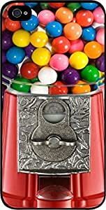 Gumball Machine-Up-Close- Case for the Apple Iphone 4-4s Universal-Hard Black Plastic