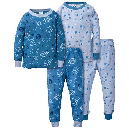 - Gerber Baby Boys Organic 2 Pack Cotton Footed Unionsuit, 24 months, SPACE