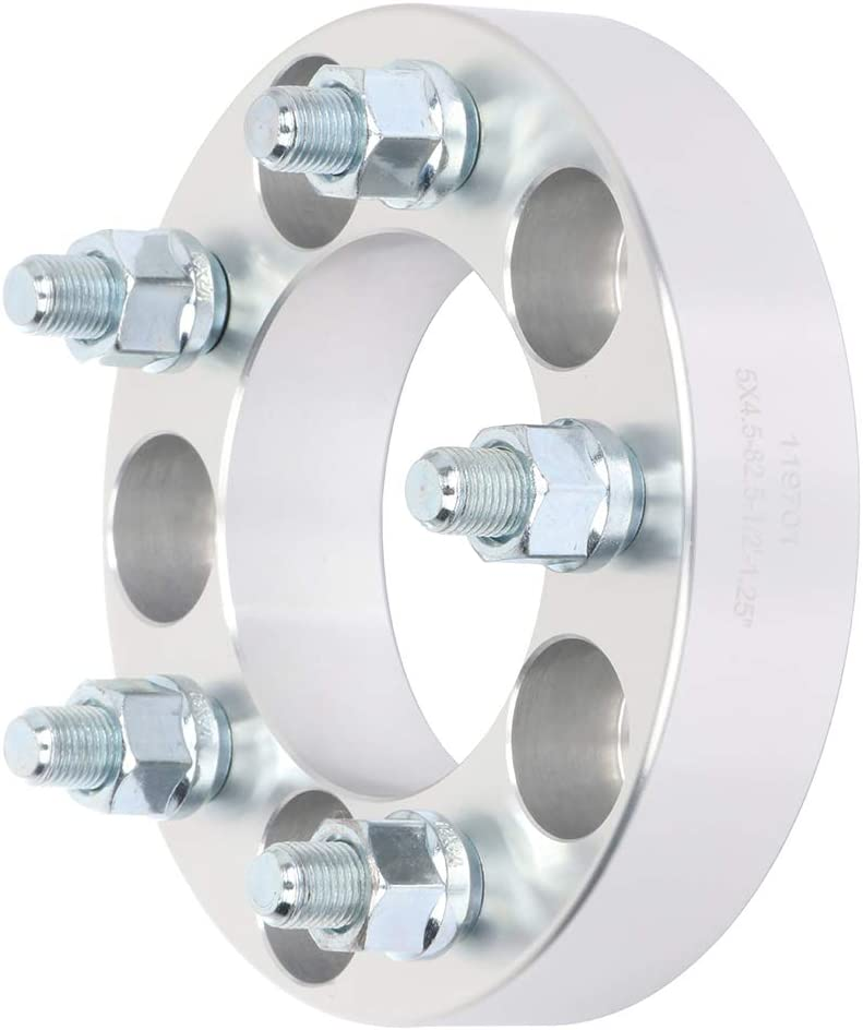 TUPARTS 2x 1.25 5x4.5 82.5 1//2 Wheel Spacers These Vehicles Listed Below Jeep Comanche Mercury Grand Marquis Mercury Mountaineer