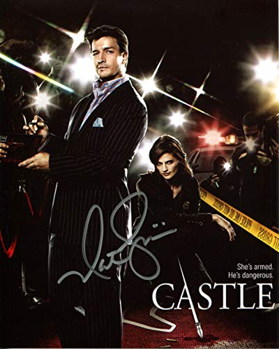 Nathan Fillion Signed/Autographed 8x10 glossy Castle Photo. Includes Fanexpo Certificate of Authenticity and Proof. Entertainment Autograph Original