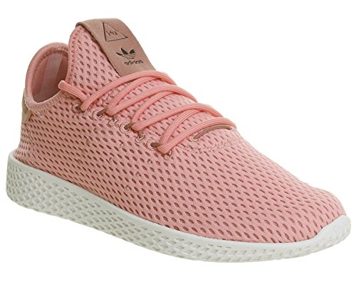 Adidas Originals Pw Tennis Hu Heren Trainers Sneakers (uk 4.5 Ons 5 Eu 37 1/3, Roze Wit By8715)