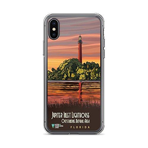 Jupiter Inlet Lighthouse - Vintage Poster - Jupiter Inlet Lighthouse 0214 - iPhone Xs Max Phone Case