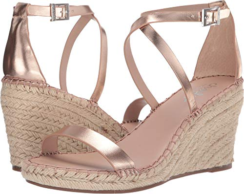 Charles David Womens Feature - CHARLES BY CHARLES DAVID Women's Nola Wedge Sandal Rose Gold 7.5 M US