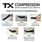 TX Unisex Athletic Compression Socks 20-30 mmHg