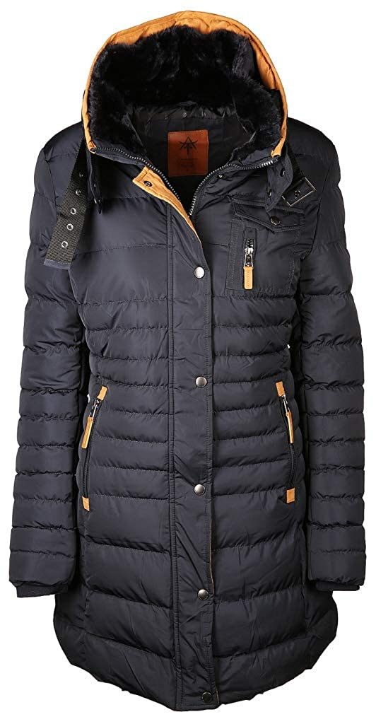 Khujo Damen Mantel CLAIRE 1001CO143, Gr. 36 (S), Schwarz