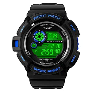 Timsty Electronic Sports Watch with LED Backlight Water Resistant Quartz Digital Watches from Timsty