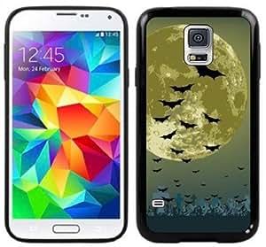 Bats Moon Handmade Samsung Galaxy S5 Black Case