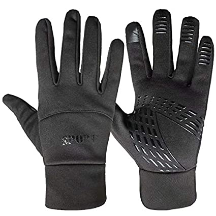 b3cde6a4f37bd HOLIIBN Winter Warm Gloves, Thermal Touchscreen Gloves Lightweight Cold  Weather Cycling Gloves Windproof Winter Sports