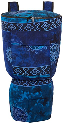 X8 Drums & Percussion X8-BG-BLUE-XL Djembe Backpack Bag with Blue Celestial Design, XL by X8 Drums & Percussion