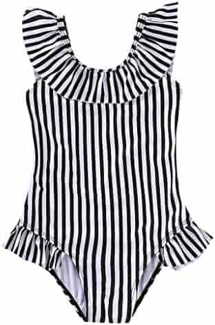 8c6337fcf5209 KONFA Baby Girls One Piece Swimsuit Bikini Set Bathing Suit Little Kids/Toddler  Rashguard Swimwear