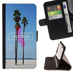Dragon Case- Caja de la carpeta del caso en folio de cuero del tir¨®n de la cubierta protectora Shell FOR Apple Iphone 5C- California Summer