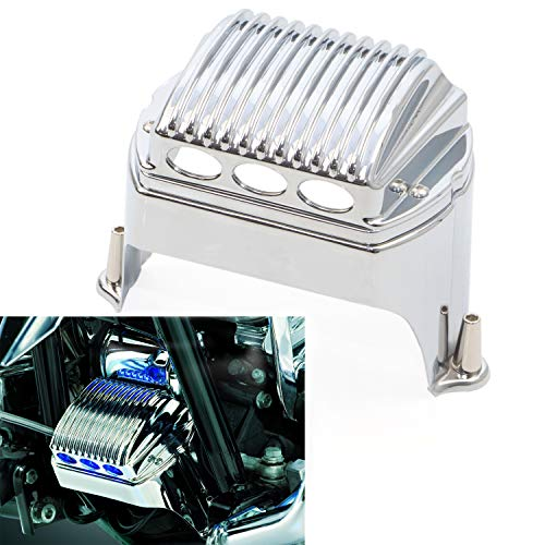 Chrome Front Voltage Regulator Cover Accent For 1997-2011 Harley Electra Glides Road Glides Street Glides Road -