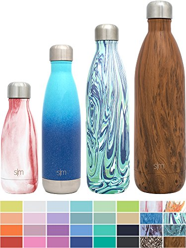 Simple Modern 25oz Wave Water Bottle - Vacuum Insulated Double-Walled 18/8 Stainless Steel Hydro Swell Flask - Concept Collection - Starry Night