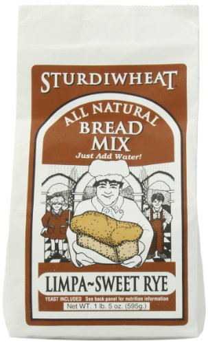 (Sturdiwheat All Natural Bread Mix, Limpa-Sweet Rye, 21-Ounce Package (Pack of 4))