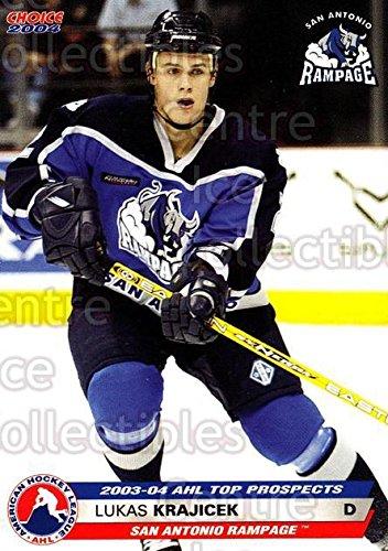 ((CI) Lukas Krajicek Hockey Card 2003-04 AHL Top Prospects 15 Lukas Krajicek)