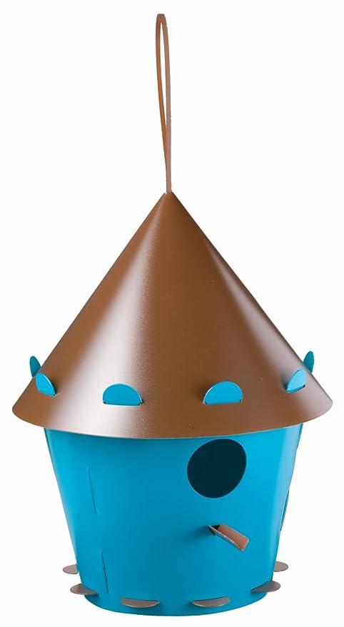 f50ec34d53c8c Group Tweet Tweet Home Nichoir pour Oiseaux en Plastique recyclé à  Assembler Bleu Sarcelle/Marron