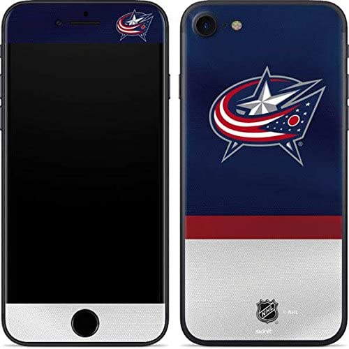 Skinit Decal Phone Skin for iPhone 7 - Officially Licensed NHL Columbus Blue Jackets Alternate Jersey Design 51EufHoJf6L