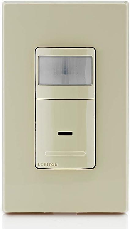 3-Pack Leviton IPS02-1LI Decora Motion Sensor In-Wall Switch 2.5A Single Pole Ivory Auto-On