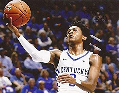 De'Aaron Fox signed Kentucky Wildcats 8x10 photo autographed 2017 NBA Draft 3 - Autographed College Photos