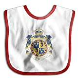 Coat Of Arms Dauphin Of France Soft Cotton Infant Baby Bid Pinafore Saliva Towels Red