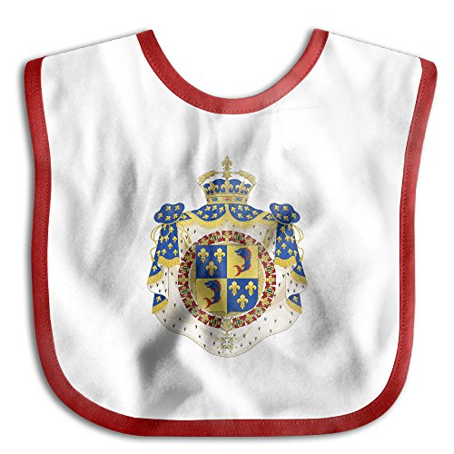 Coat Of Arms Dauphin Of France Soft Cotton Infant Baby Bid Pinafore Saliva Towels Red by HHH Babybid (Image #1)