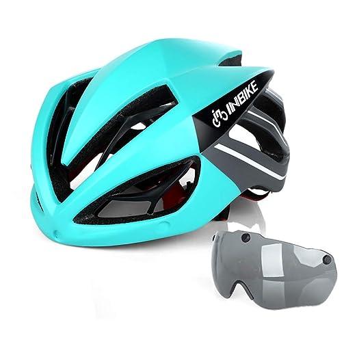 CARACHOME Casco Bicicleta de montaña con Gafas de Sol, protección ...