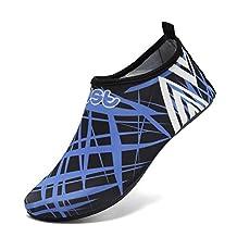 WALUCAN Water Shoes Lightweight Aqua Socks Barefoot Anti slip Sole Beach Pool Surf Exercise Women Men