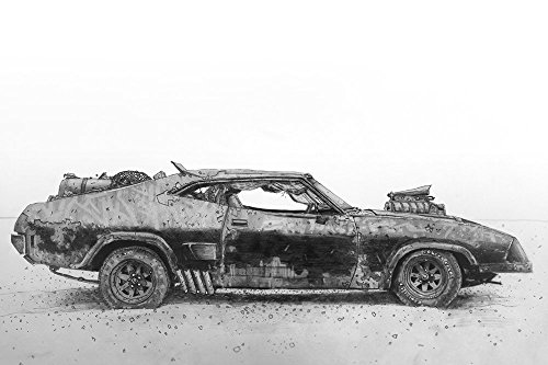 Leave her alone George print from a pencil drawing of the coolest car ever