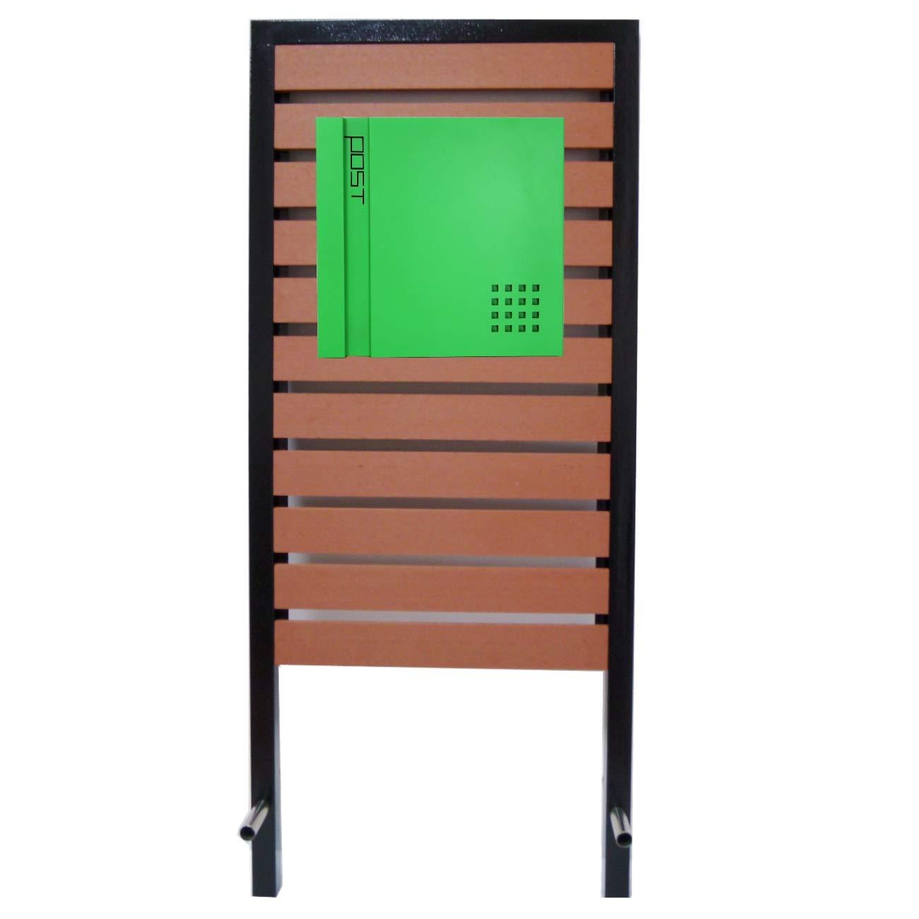 郵便ポスト スタンド付 壁掛け鍵付きマグネット付きグリーン 緑色ポストpm18s-pm466   B07FX9WKCR