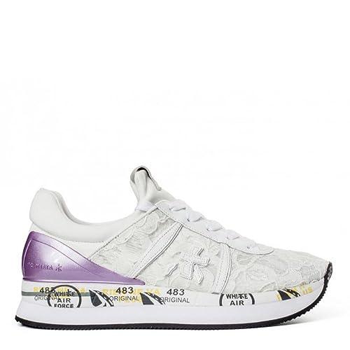 PREMIATA , Damen Sneaker Weiß Bianco, Weiß - Bianco - Größe  38 EU ... 00c10f9d5e
