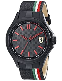 Ferrari Men's 830215 Pit Crew Analog Display Quartz Black Watch