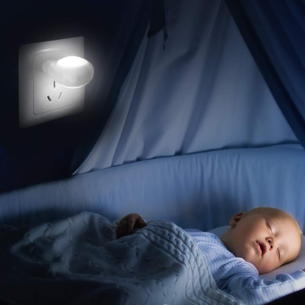 Lilideni AC110-240V 0.7W Mini LED luz de la Noche del Caracol Auto l/ámpara de la Noche Luz de Control incorporada Luz de Control L/ámpara de Pared para el Dormitorio de los ni/ños del beb/é UE//EE.