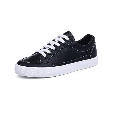 59849545ebe23 Amazon.com | AGoGo Women's Girls Leather Fashion Sneaker Low Top ...