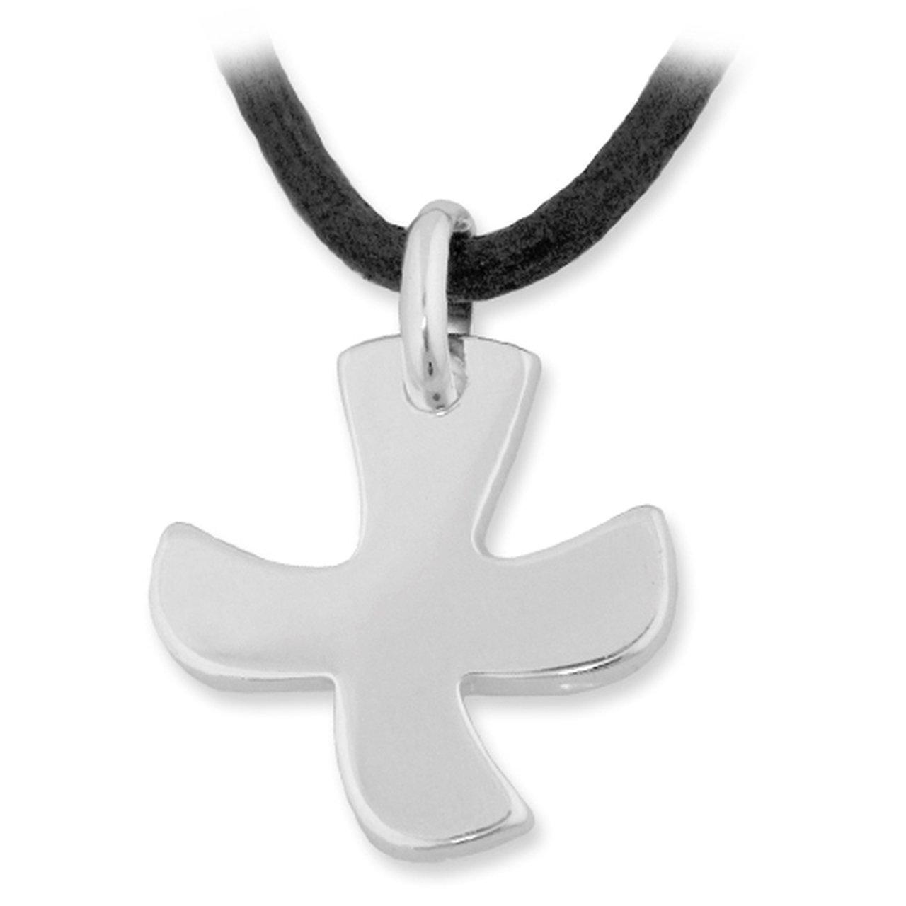 Schmuck-Pur Exklusives Taize® -Kreuz-Collier echt 925/- Silber Cadenis 123-2