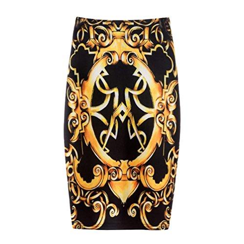 Confortable Impression Femme Moulante Courte Style Yuanu 38 Zipper Jupe Numrique Serre Mode Jupe Impression Doux f7wSgqSE