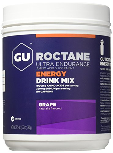 GU Energy Roctane Ultra Endurance Energy Drink Mix, Grape, 1.72-Pound Canister