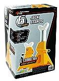 Performance Tool 6 Ton (12,000 lbs.) Capacity Heavy Duty Jack Stand set, W41023