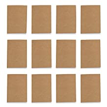 "Studio Nouveau OJRL-001*12 Unlined Brown Pocket Journals, 3.5"" x 5.5"", (12 Pack)"