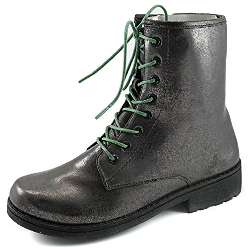 Womens Qupid Missile-04 Military Up Bootie Peltro