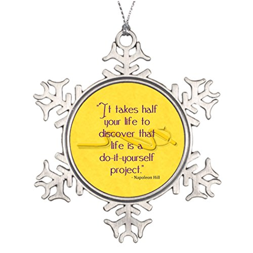 Tree Branch Decoration Do-It-Yourself Quote Halloween Snowflake Ornaments