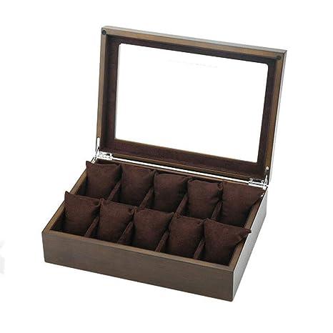 Caja De Reloj Caja De Reloj De Madera Caja De Joyería 10 Ranuras Caja De Regalo
