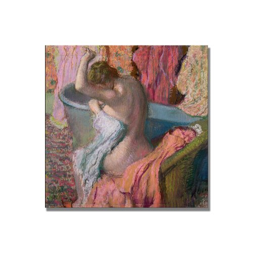 Seated Bather, 1899 by Edgar Degas, 18x18-Inch Canvas Wall Art
