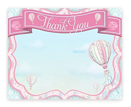Amazon Com Hot Air Balloon Thank You Cards 10 Thank You Note