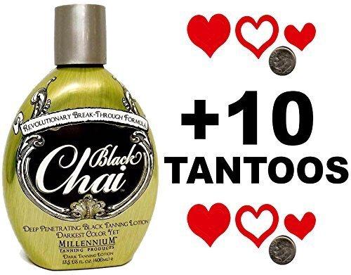 Millenium Tanning Black Chai Bronzer Tanning Lotion, 13.5 Fluid Ounce