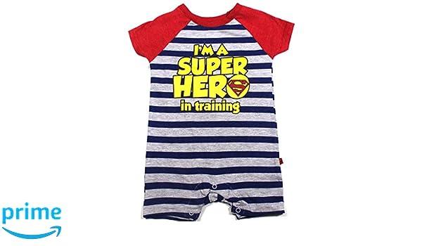 3684a0f1d3bc Amazon.com  KWC Baby Boys Superman Romper Size 3-6 Months  Clothing